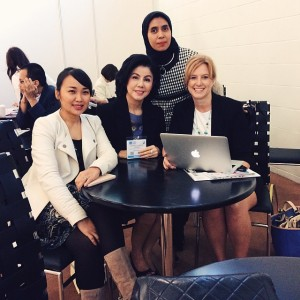 With Laura, Desiree, and our moderator, Sari